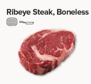 rib eye steak boneless