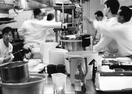 The kitchen can be chaotic and stressful. Dealing with stress is a very important skill.