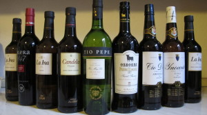 A collection of Sherry wines